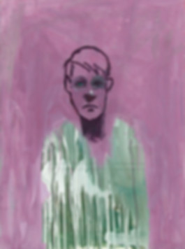 IMAGINARY PORTRAIT WITH GREEN SHIRT- 199