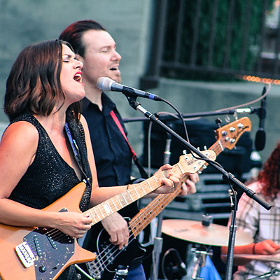 B and The Hive Opening for Chris Isaak at The Mountain Winery