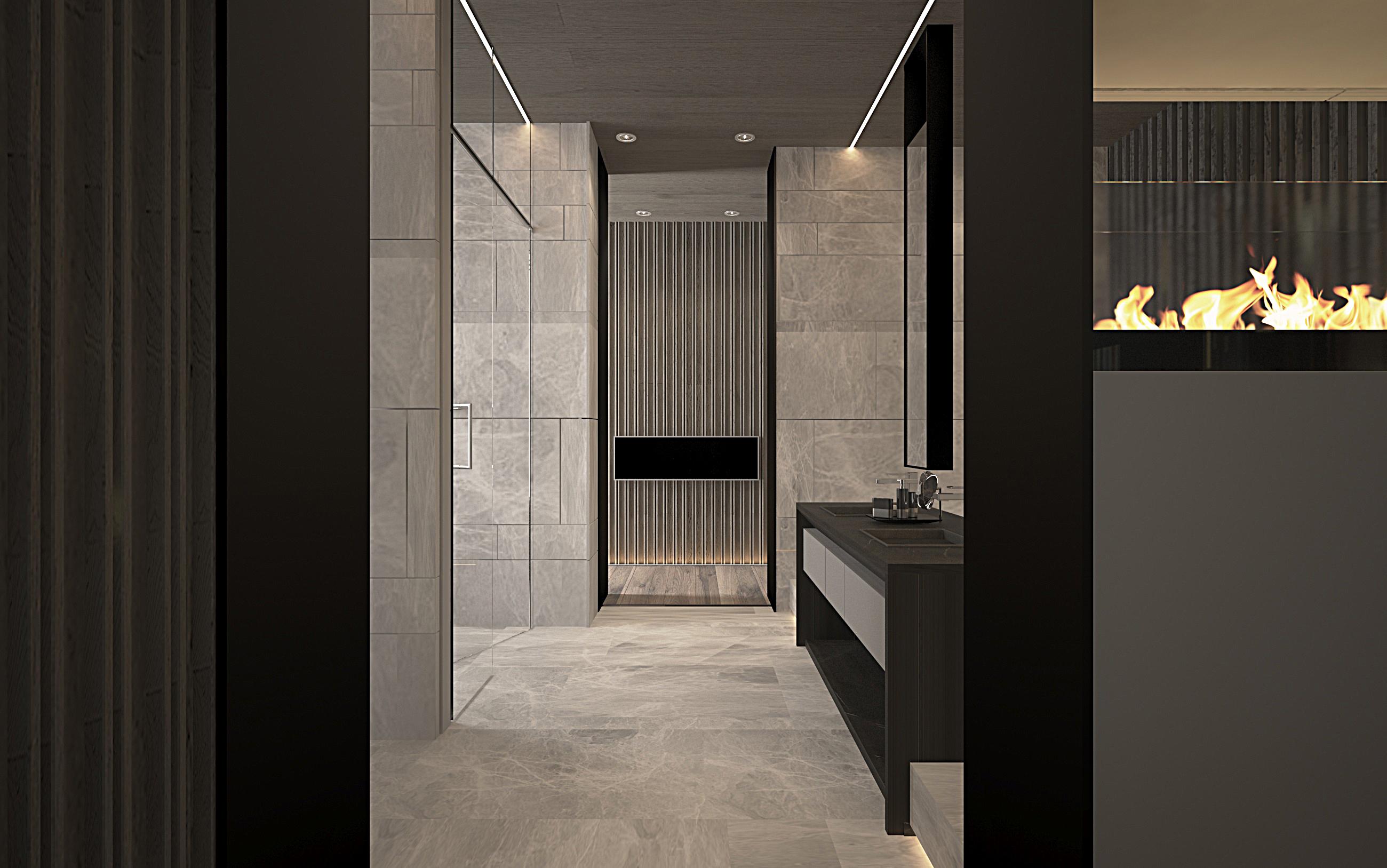主臥房衛浴走道更衣室角度