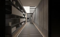 樓梯走道書櫃調整