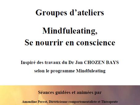 Ouverture des ateliers de groupe Pleine Conscience et Mindfuleating, Se nourrir en conscience