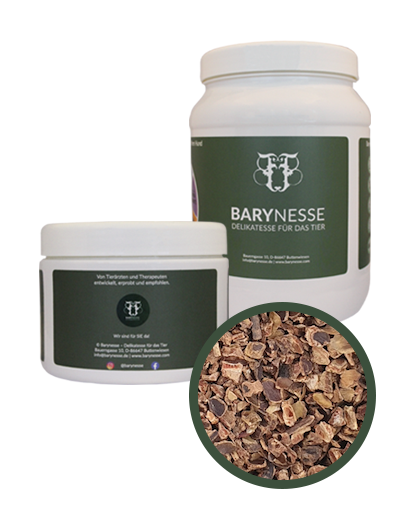 """Barynesse """"Johannisbrot-Flocken"""" für Hunde  in Bio-Qualität - Magen & Darm"""