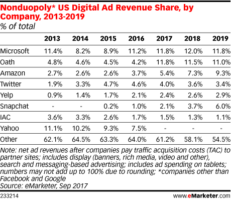 Chart: Ad Revenue Share by Company