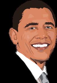 Barack Obama cartoon image