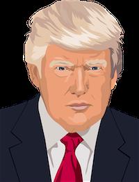 Donald Trump cartoon image