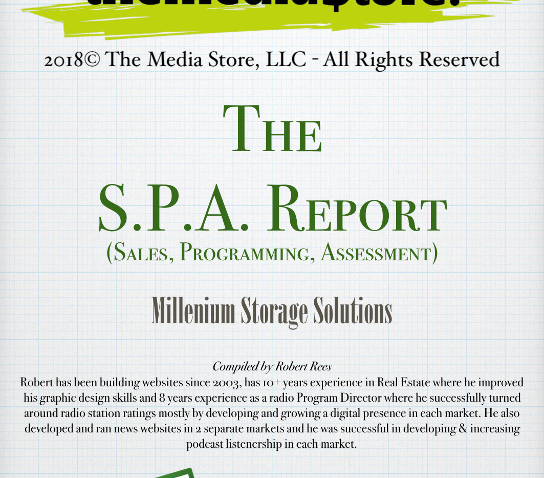 The S.P.A. Report - Millenium Storage.00