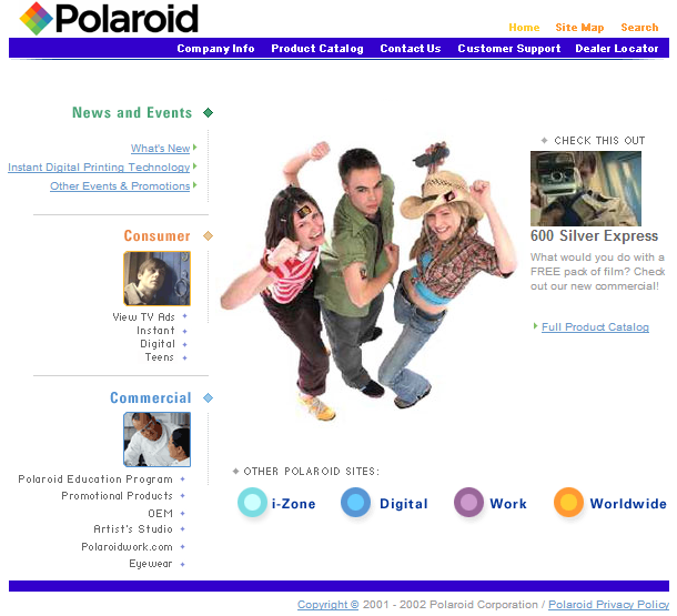 Early 00's Website Design