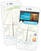 Waze on cell phones
