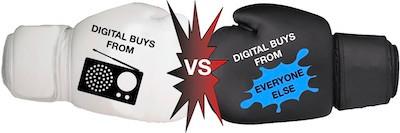 Digital Buys from Radio vs Digital Buys from Everyone else