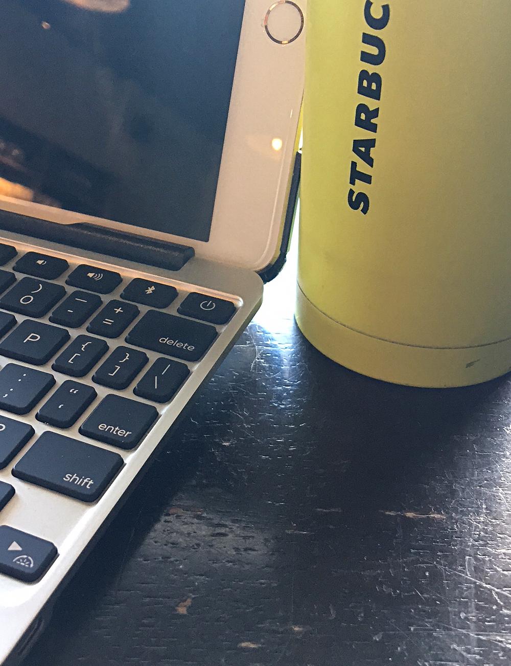 Digital at coffee shop