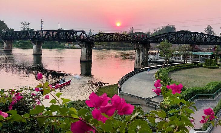 Bridge over River Kwai in Kanchanaburi at sunset IMG_0568_edited.jpg