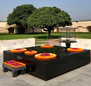 Raj Ghat Mahatma Gandhi Delhi India