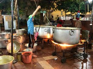 Meal preparation at Golden Temple Amritsar Punjab