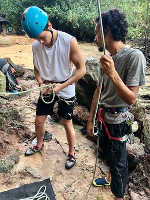 Rock climbing in Krabi