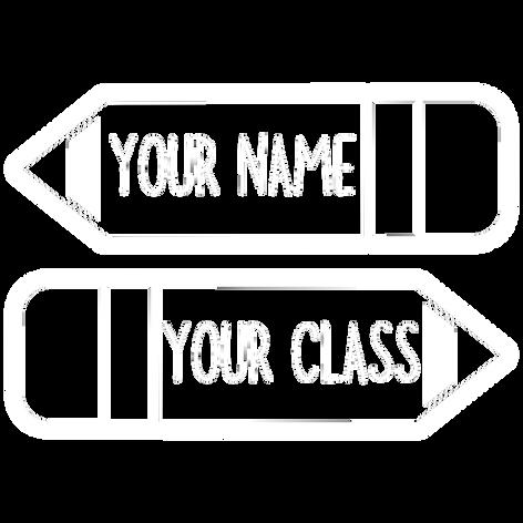 pencil name, class
