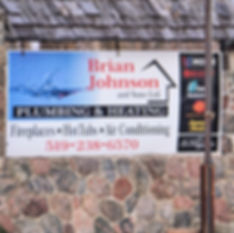 Brian Johnson and Sons Plumbing and Heating sign
