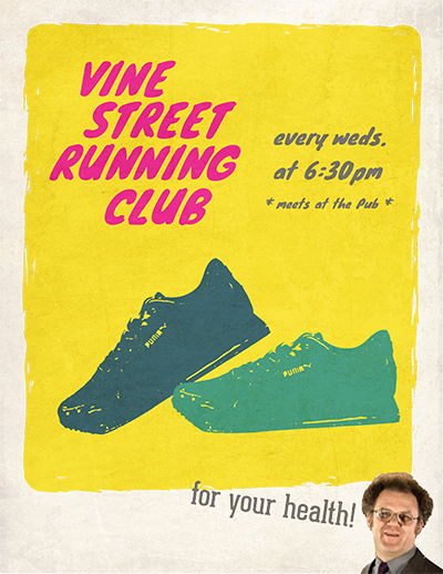 Vine Street Pub Run Club Poster