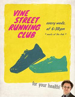 Vine Street Pub Run Club Poster