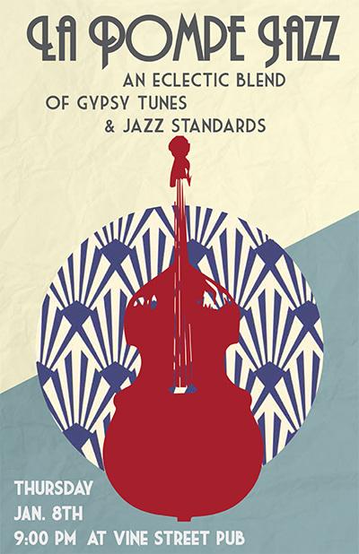 La Pompe Jazz Gig Poster