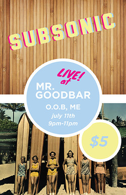 Subsonic Gig Poster