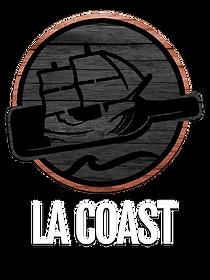 logo wood grain white textt orange circl