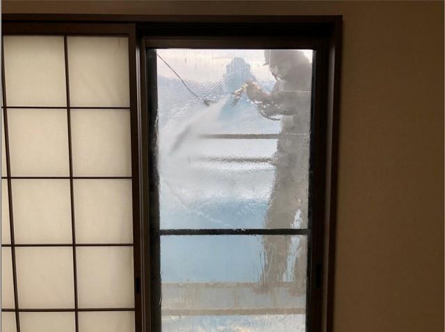 ガラス窓、網戸 洗浄