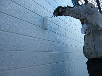外壁塗装 工事中