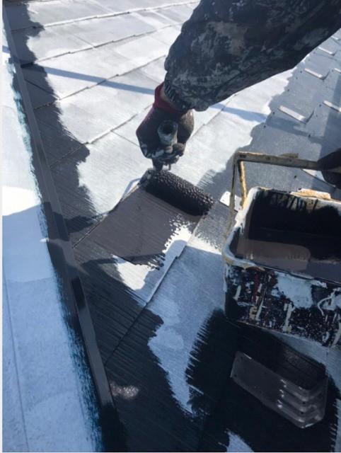 屋根 中塗り 遮熱塗料