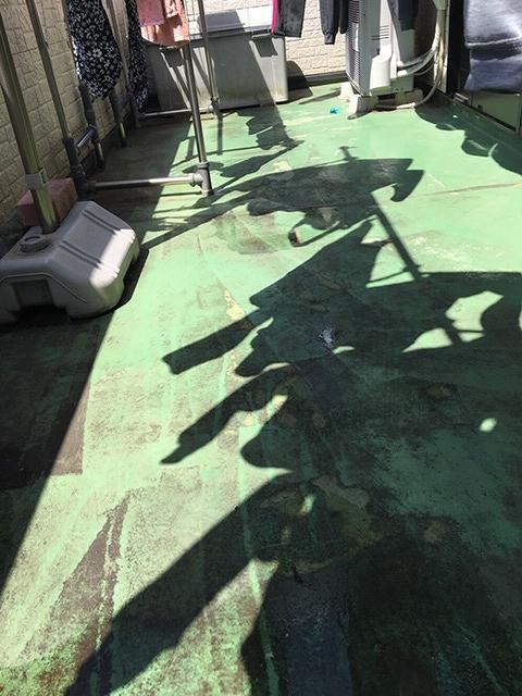 バルコニー床防水工事着工前