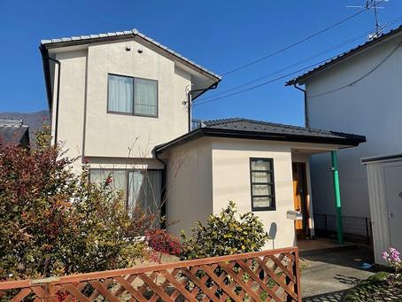 上田市 Y様邸 外壁塗装・木部アク洗い・玄関ドア修繕工事