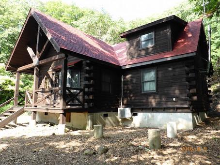 小諸市 イトーピア S様邸 ログハウス山荘 屋根・外壁塗装工事