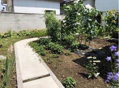 お庭リフォーム工事 ガーデン アプローチ
