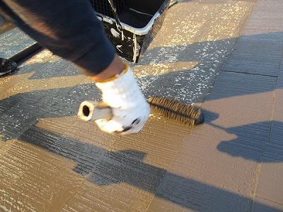 屋根塗装 工事中