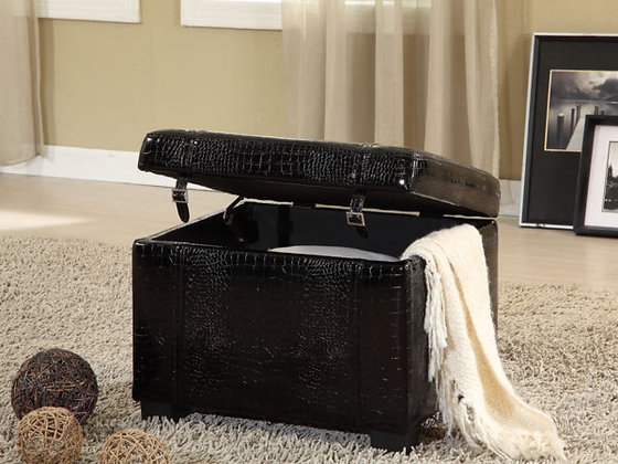 Storage Ottoman Crocodile Pattern