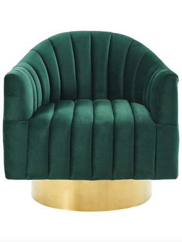 Contemporary bucket chair with swivel seat