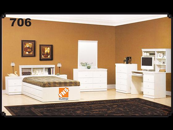 706 - Headboard + Bed