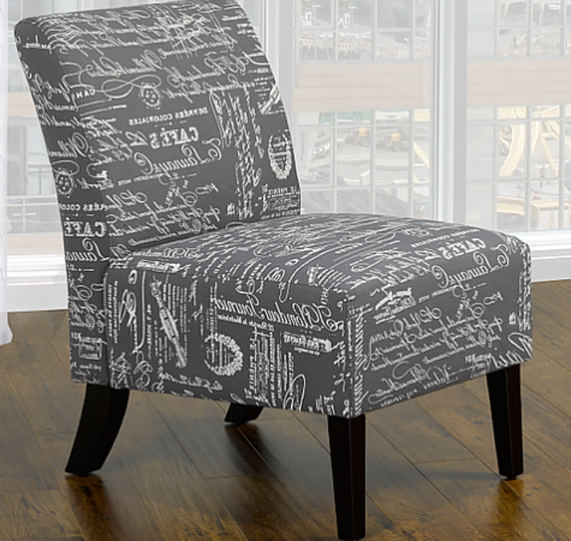 Latin Scripted Chair