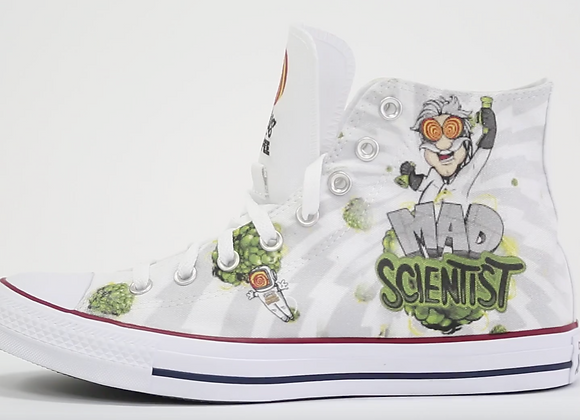 Mad Scientist Converse Shoes