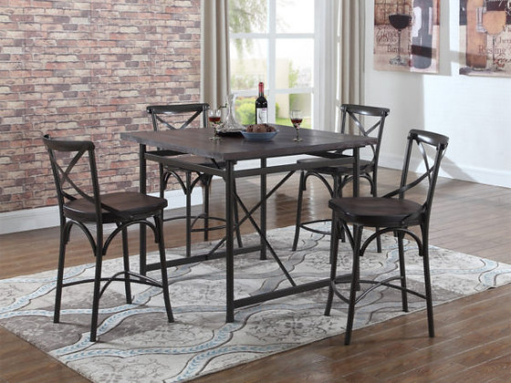 Cloe Dining Set with 4 Chairs
