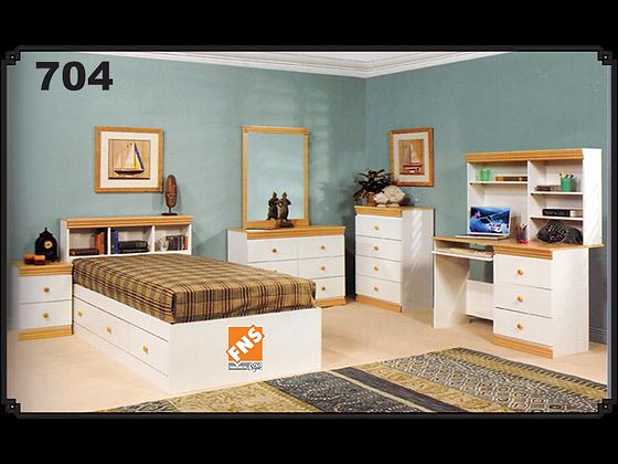 704 - Headboard + Bed