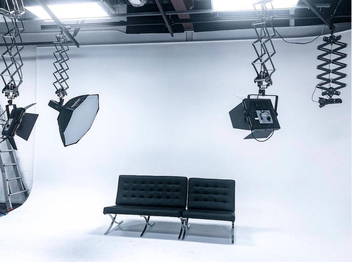 Talk Show Set Up Blue Phoenix Studios