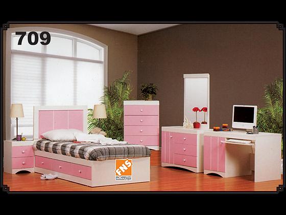 709 - Headboard + Bed