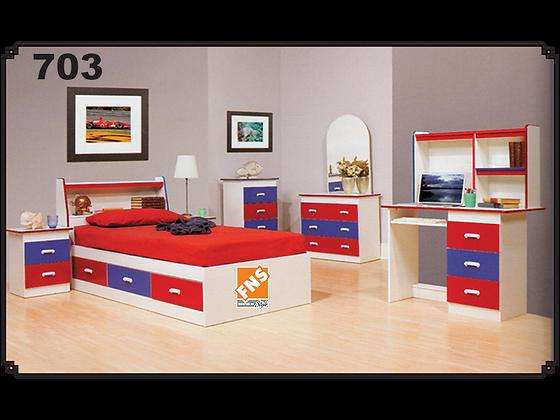 703 - Headboard + Bed