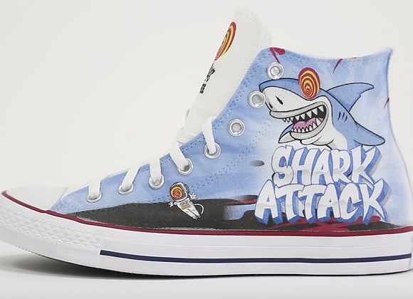 Shark Attack Converse Shoes