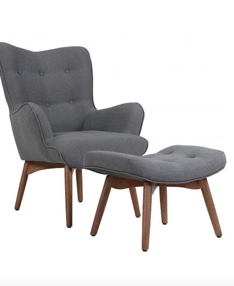 Accent Chair with Stool
