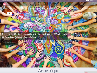 Art and Om© Workshop at Art of Yoga, Singapore