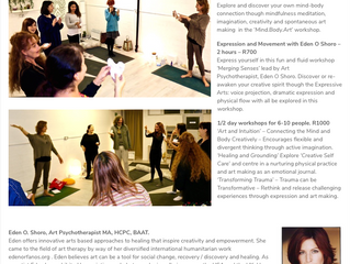 Trauma Informed Therapeutic Arts Workshops  @ the Zip-Zap Academy, Cape Town, South Africa