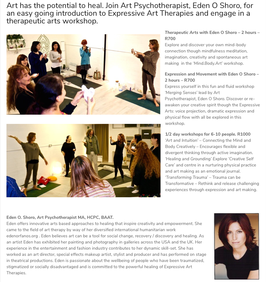 Therapeutic Arts Workshop with Zip-Zap