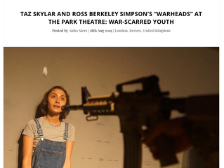 A sincere & strong account of trauma: WARHEADS – Park Theatre ...input of Eden Orfanos-Shoro...