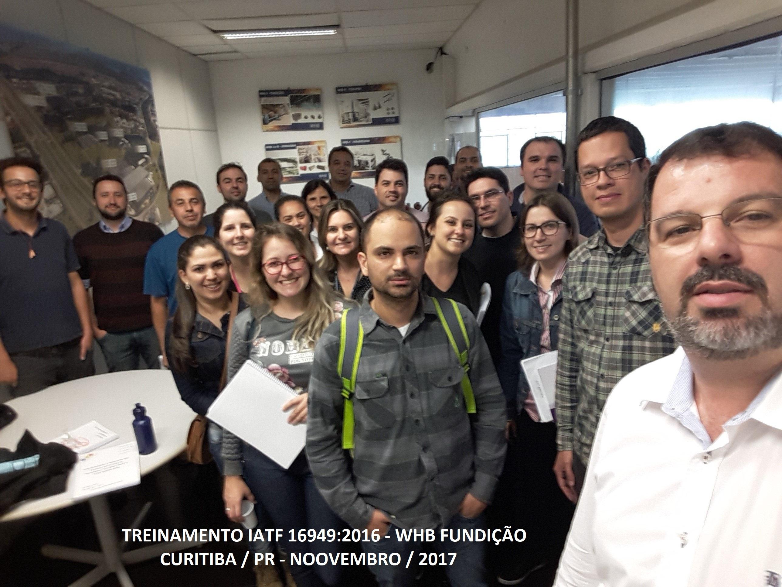Treinamento IATF WHB Curitiba Novembro 2017